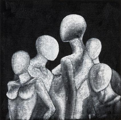 Quadro - Dipinto su juta - Arte contemporanea