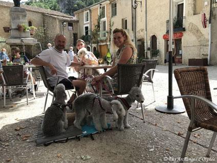 """Déjeuner au """"Relais du pénitent blanc"""" à Saint-Guilhem-le-Désert"""