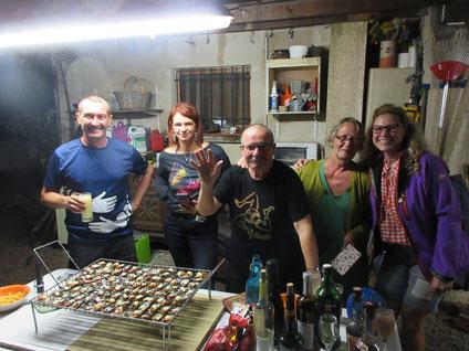 La belle équipe avec David, Marie, Jojo, Eliane et Stéphanie
