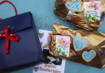 MERCI de tout coeur Eliane et Joy pour tout les beaux cadeaux d'anniversaire pour Olga, Jaslane et moi ! Je suis très très touchée !