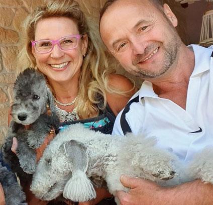 En plus d'un amour démesuré, nous partageons notre passion pour le Bedlington Terrier