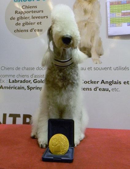 Olga avec sa médaille du CGA-2014