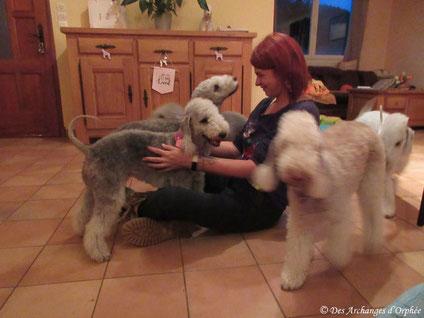 Olga et Jaslane avec Marie
