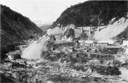 Spoil management site in 1882 (Gotthard)