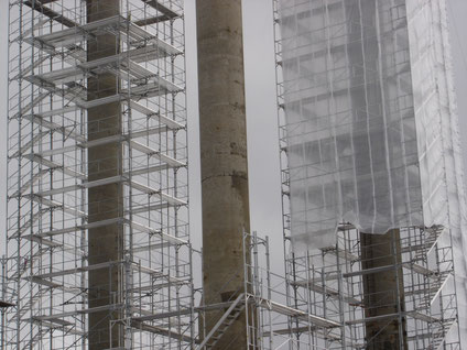 Instandsetzung AAR-geschädigter Strommasten im Lago di St. Maria (Lucomagno)