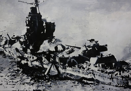 """Mikuma"", acrylic / oil on canvas, 140 x 200 cm, 1993"