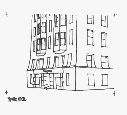 Monadnock Building sketched by Heidi Mergl Architect