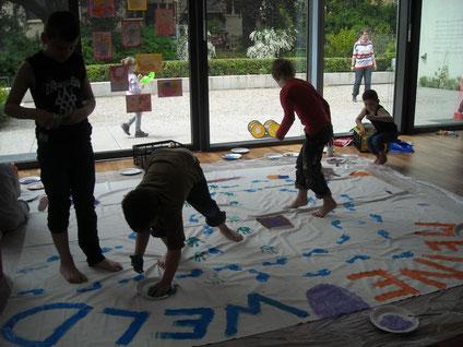 Kunstaktion mit Waldeck-Schule und Luther Pfarrei