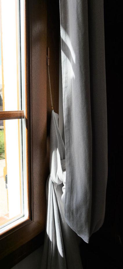 Embrasses en tissu du rideau, sans trous : univers emylila