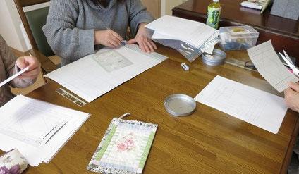 パッチワーク教室ルトゥール 製図