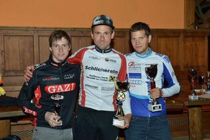 3. Christian Haas, Sieger Bernhard Schwarzl, 2. Manuel Natale; Bild von Sportfotos Walter Andre