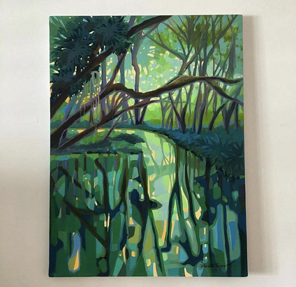 Evergreen, acrylic on canvas. Private Collection