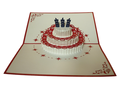 Carte Pop-Up Gateau d'Anniversaire