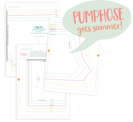 FREEBOOK: Kurze Pumphose für den Sommer nähen (Gr. 56-116)! - Lybstes.