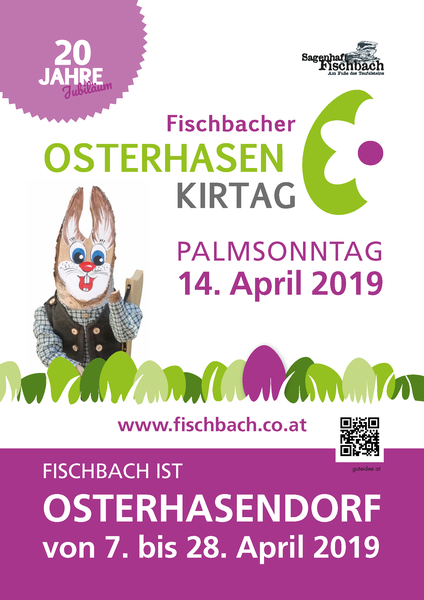 Plakat Osterhasenkirtag 2019