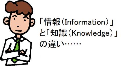 「情報(Information)」と「知識(Knowledge)」の違い……