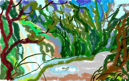 2a passeggiata - Il sentiero delle meraviglie - disegno di Wilma Camatti