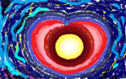 4a passeggiata - Le vibrazioni del cuore - disegno di Wilma Camatti