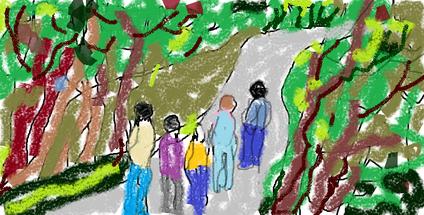 3a passeggiata - disegno di Wilma Camatti