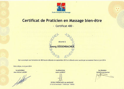 Praticien certifié en Massages et Réflexologie plantaire