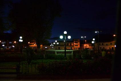 Plaza principal en Recuay