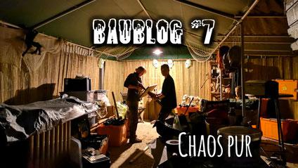 Baublog 7 - Chaos pur, Halloweenhaus Lüneburg , Deutsch Evern