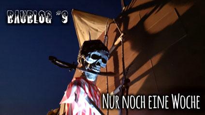 Baublog 9 - Bau der Kajüte für das Piratenschiff Piratenschiff, Halloweenhaus Lüneburg , Deutsch Evern