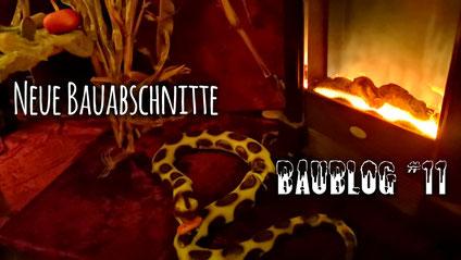 Baublog 11 - Dekoration im Tempel, Halloweenhaus Lüneburg , Deutsch Evern