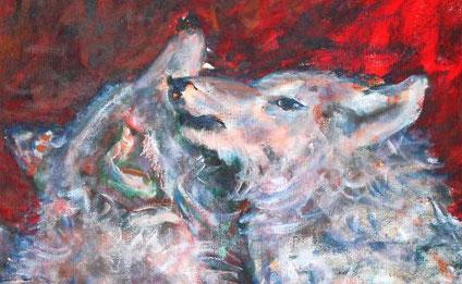 Woelfe, Wolfskoepfe