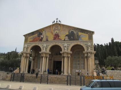 Church of Agony of Christ in Gethsemane