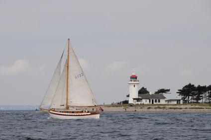 Leuchtturm Sletterhage mit norwegischem Doppelender