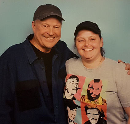 Photo op with Dwight Schultz at Dutch Comic Con