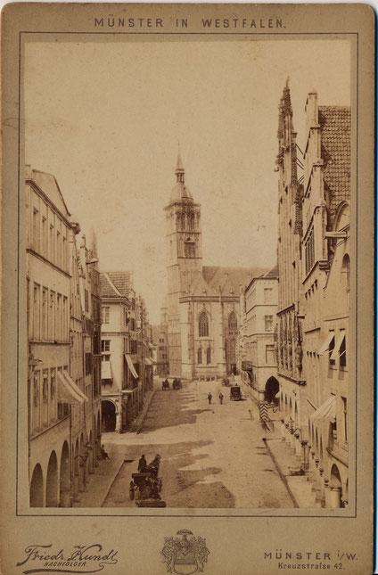 Kutschen auf dem Prinzipalmarkt 1887 - Sammlung Henning Stoffers