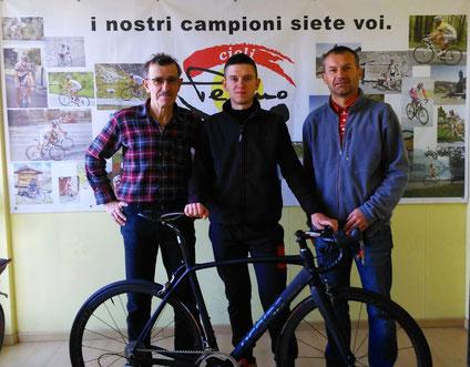Da sinistra verso destra: Michele Pepino, Stefano Consolino ed Enrico Chiapale