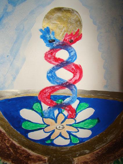 Mandala einer Seerose. Seminare als Angebot zur Stärkung von Familienbeziehungen und des eigenen Urvertrauens. Arbeit mit Anteilen des inneren Kindes.