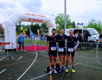Championnat régional duathlon Castres - Guilhem Prax - Mathieu SZOLDRA - Raphael Durand - Millau Grands Causses Triathlon