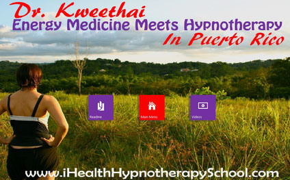 Opening screen for Energy Medicine Meets Hypnotherapy in Puerto Rico