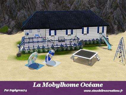 Simsdelirescreations Sims sims3 mobylhome océane maison creation saphyre2174