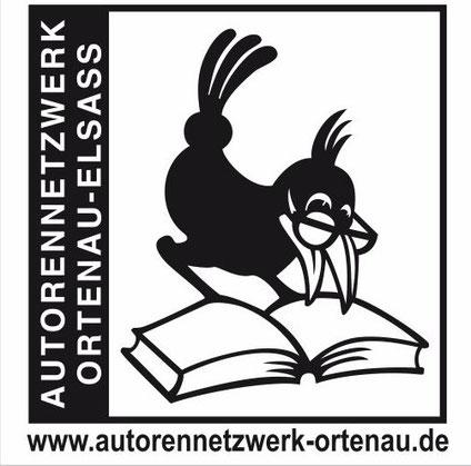 Unser Logo mit dem Leseraben (von Raimund Müller, Autor und Wetterfahnenmacher)