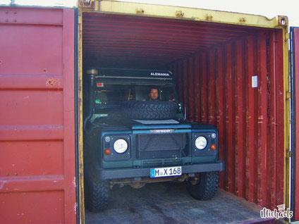 The Michaels, Südamerika, Argentinien, Verschiffen, Container, RORO