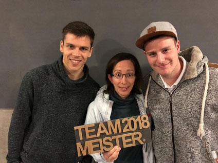 Teammeister 2018 - SunLu's mit Stefan Zedi, Claudine Boyer, Ivo Junker, Marvin Wassmann (fehlt auf dem Bild)
