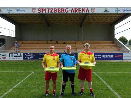 Einweihung der Zuschauertribüne des Fußballvereins TSV Hirschau.