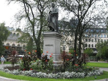 Statue de Berzélius, Berzelii Park, Stockholm, Sweden