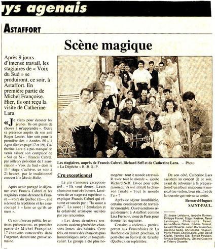 Laurent Reverte mai 1998 11èmes rencontres d'Astaffort