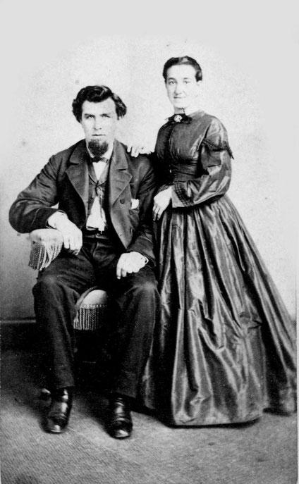 Theresia Bornemann, die jüngste Stiefschwester von Joseph Wüllner mit ihrem Ehemann in Detroit