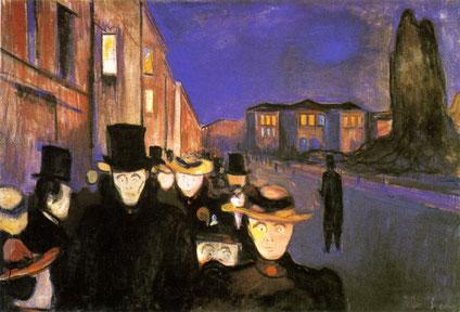 "E. Munch, ""Sera sul viale Karl Johan"" (1892)"