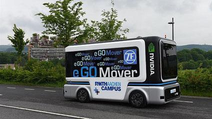 """Auch in der Region wird am Thema Autonomes Fahren gearbeitet. In Aachen entsteht dieser """"eGO Mover""""-Kleinbus. Foto: M. Jaspers"""