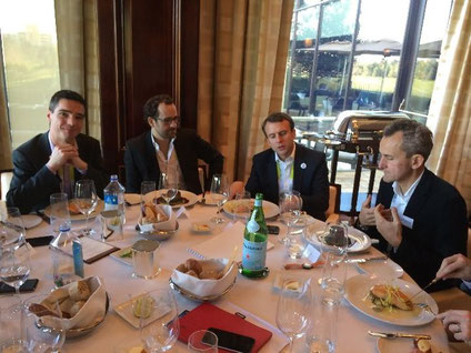 Emmanuel Macron Eric Carreel Xavier Marivaldi Dimitri Carbonnelle