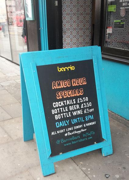 Außergewöhnliche Bars London - Barrio Shoreditch