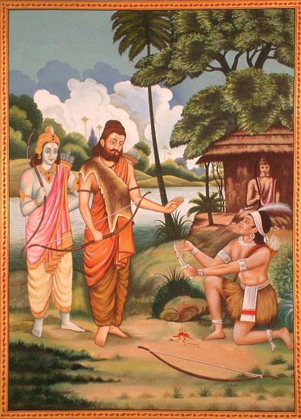 Ashvathama era il Figlio di Krupi (Madre) e Dronacharya (Padre) - Ashvathama was the Son of Krupi (Mother) and Dronacharya(Father)